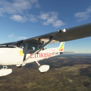 Ethiopian Aviation Academy Cessna 172 in level flight