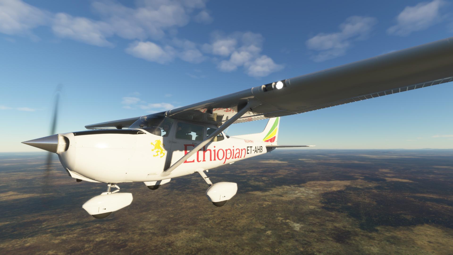 Ethiopian Aviation Academy Cessna 172 in level flight