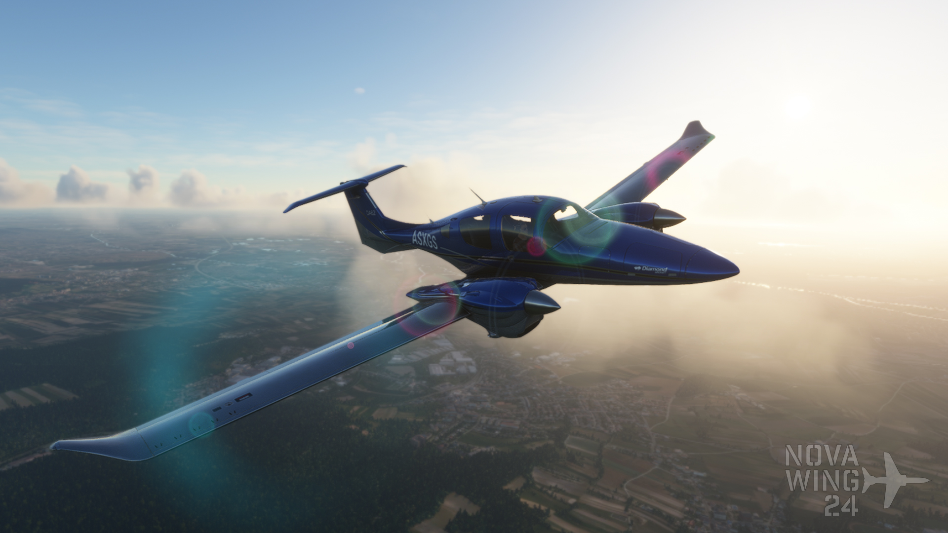 Diamond DA62 Delight Curved Factory Colour schemes Promotion shot