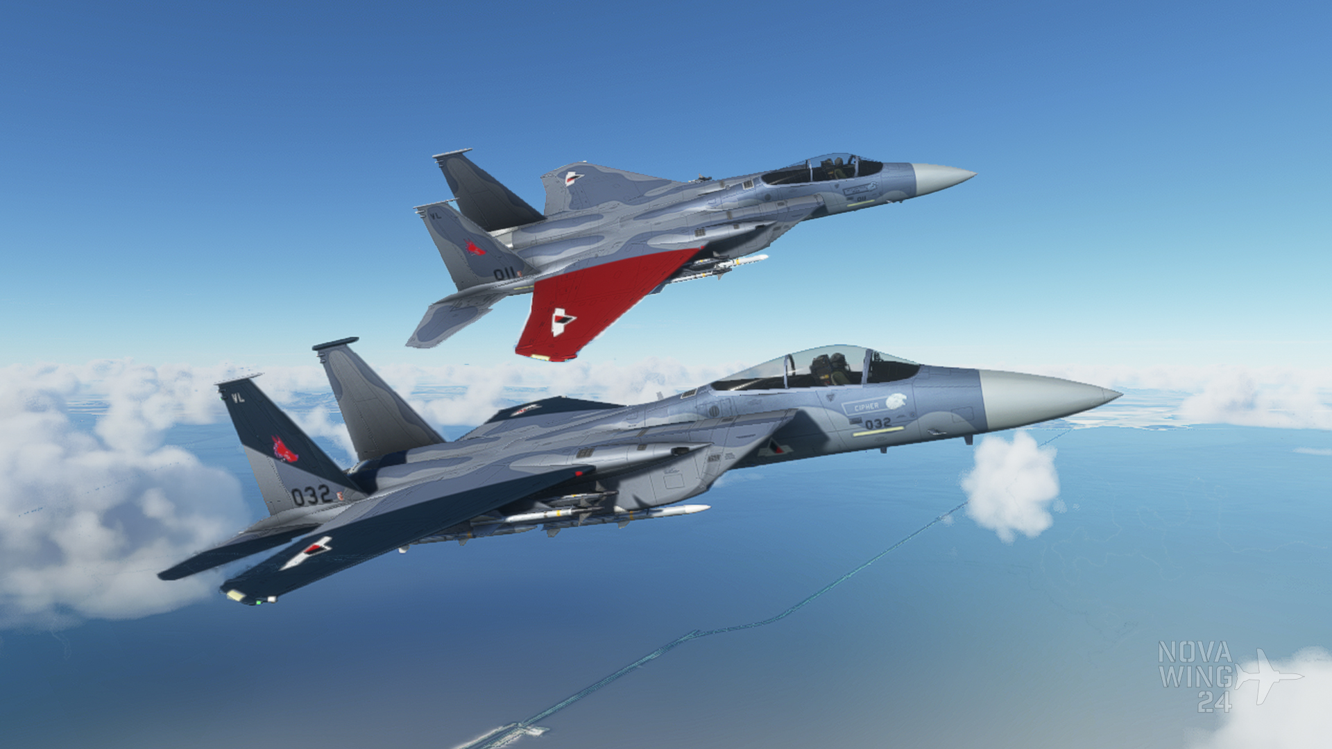 DC Designs F-15C as Cipher and Pixy from Ace Combat