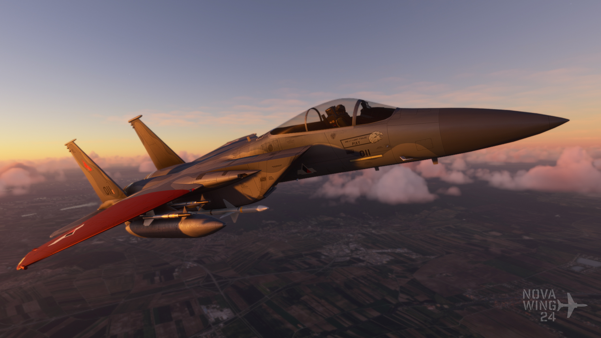 DC Designs F-15C in the markings of Pixy from Ace Combat